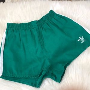 Vintage adidas striped shorts